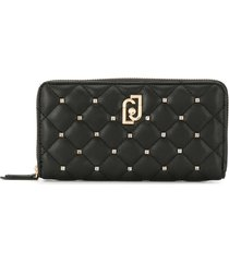 liu jo quilted zipped wallet - black