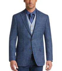 joseph abboud blue plaid modern fit sport coat
