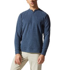 men's good man brand flex pro victory v-notch heathered sweatshirt, size x-large - blue