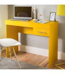 mesa escrivaninha cooler 1 gaveta amarelo - artely
