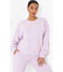 oversized overdye mergel sweater, pastel pink