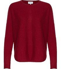 curved sweater gebreide trui rood davida cashmere