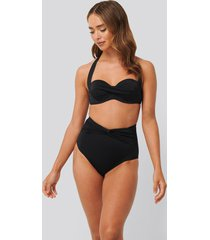 trendyol knot detailed bikini bottom - black