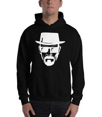 buzo capota breaking bad heisenberg sombrero estampado blanco