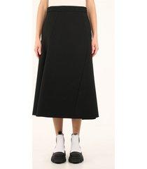 jil sander midi black skirt