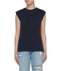'le mid rise' crewneck cotton muscle t-shirt