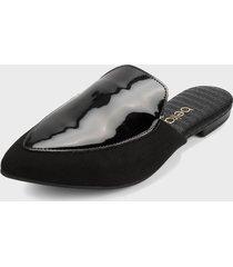 slipper negro beira rio