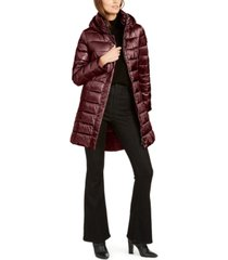 calvin klein hooded packable puffer coat, created for macy's