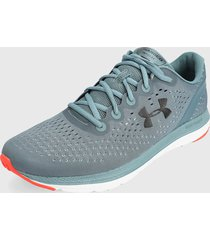 tenis running verde-coral under armour charged impulse