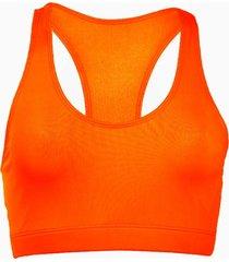 top fitness banana rosa top esportivo básico laranja