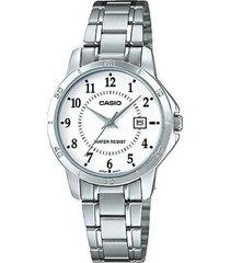 ltp-v004d-7b reloj dama blanco con calendario