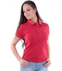 camisa polo cp0721 regular traymon vermelha - kanui