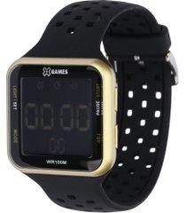 relógio digital x games xgppd092 - feminino - preto