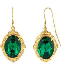 2028 gold-tone drop earrings