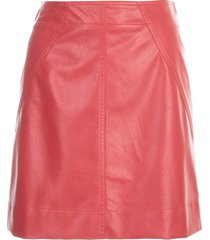 philosophy di lorenzo serafini short faux leather skirt
