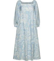 alison midi dress maxiklänning festklänning blå faithfull the brand
