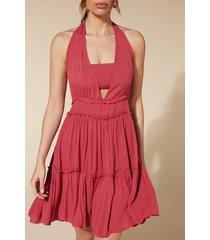 calzedonia fabric mini dress woman pink size tu