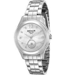 relógio feminino seculus analógico fashion