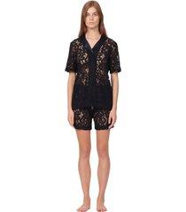 lace chemise & short pants pyjama set