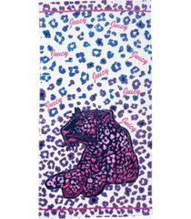 """juicy couture lounging leopard beach towel, 36"""" x 68"""" bedding"""
