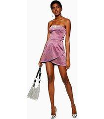glitter bandeau mini dress - multi