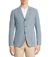 collection slim-fit hatch stitch plaid sport coat