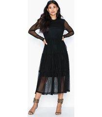 noisy may nmshimmy stripe l/s dress klänningar