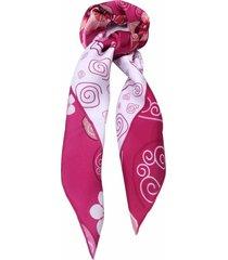 lenço smm acessorios geo floral rosa