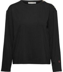 marina coat t-shirts & tops long-sleeved zwart busnel