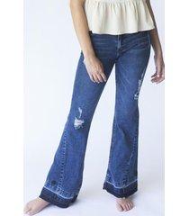 jeans téramo flare bordado azul efesis