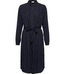 evelyn dress jurk knielengte blauw modström