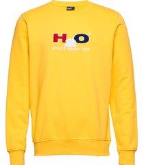 alban sweat o'neck sweat-shirt tröja gul h2o