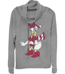 fifth sun juniors disney mickey classic daisy hat fleece cowl neck sweatshirt