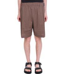 laneus shorts in green cotton