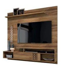 painel home suspenso para tv até 60 polegadas sala de estar bless new canela - frade movelaria