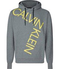 hoodie bold logo relax grijs