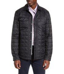 men's cutter & buck rainier primaloft insulated shirt jacket, size xxx-large - black