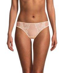 la perla women's lace brazilian bikini panty - pink - size l