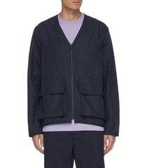 'otto' flap pocket v-neck nylon jacket