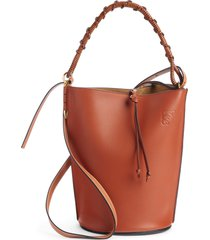 loewe gate leather bucket bag - brown