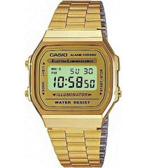 relógio casio unissex vintage a168wg-9wdf
