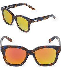 mirrored 52mm square sunglasses