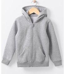 jaqueta infantil em moletom com capuz - tam 4 a 14 anos