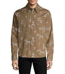 floral cotton long-sleeve shirt