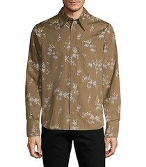 floral cotton long-sleeve shirt