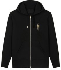givenchy classic fit zipped hoodie with lock