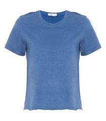 t-shirt cropped básico - azul