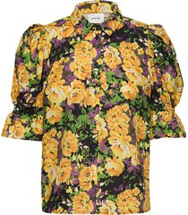 cassiagz aop shirt ao20 blouses short-sleeved multi/patroon gestuz