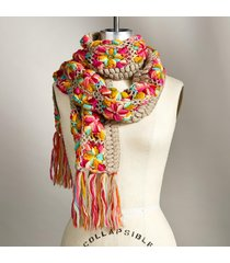 rustic blossoms scarf