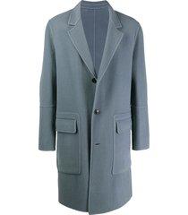 ami unstructured coat - blue